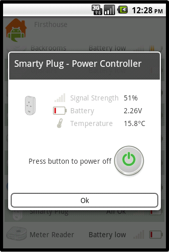 Device details and smart plug controls